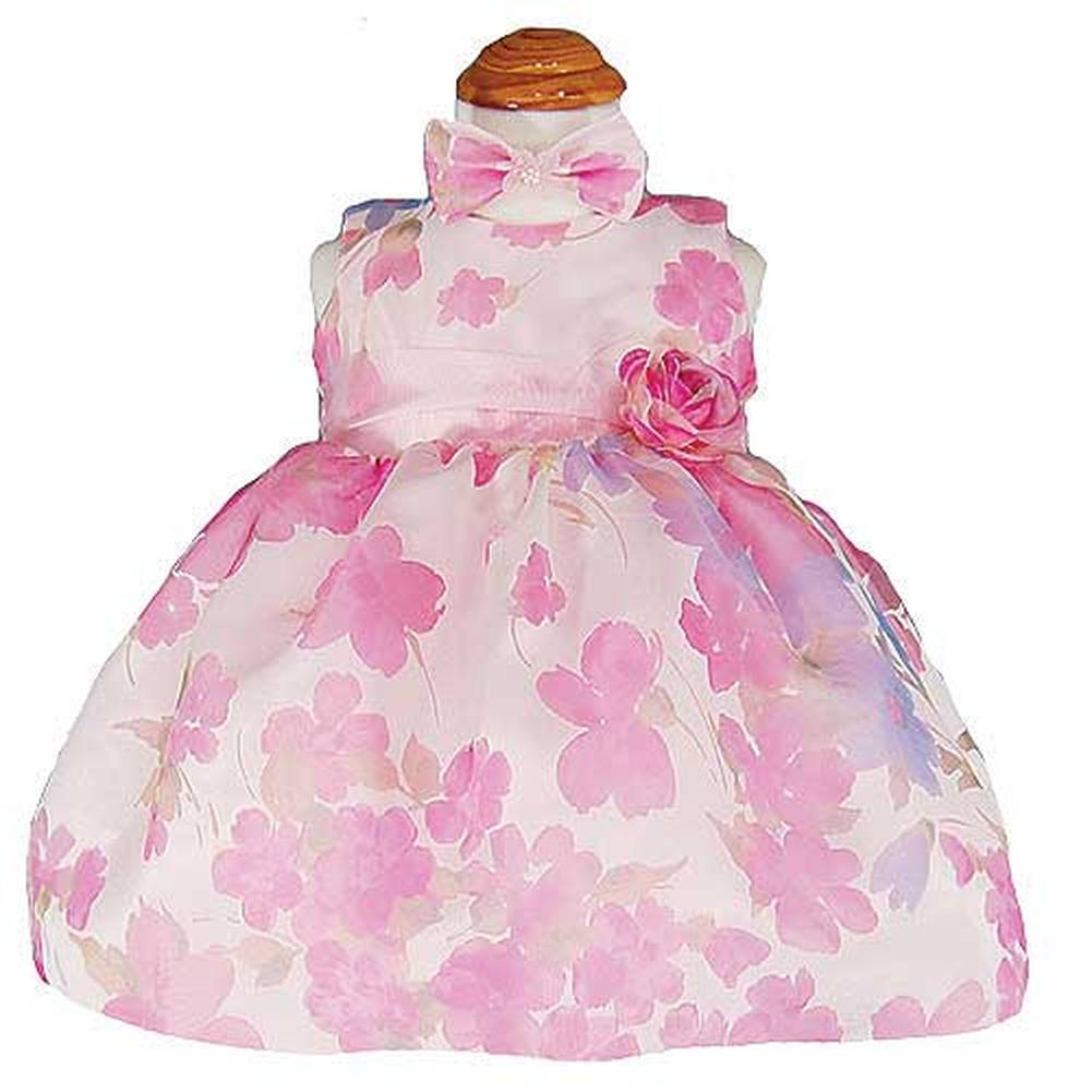 Good Girl Baby Girls 6M Fuchsia Burnout Floral Print Easter Dress