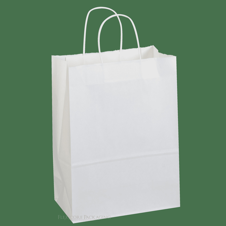 "White Kraft Paper Bags, 10""x5""x13"", 100ct"