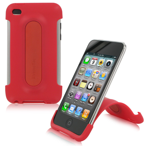 XtremeMac iPod Touch 4G Snap Stand - Cherry Bomb Red