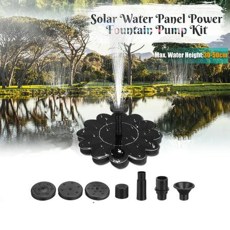 Solar Power Bird Bath Fountain Pump, Solar Panel Water Floating Fountain Pump Kit Submersible Water Pump for Pond, Garden, Patio ()