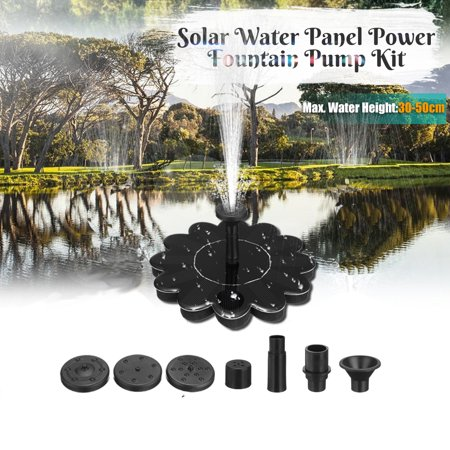 Image of Solar Water Pump, Solar Outdoor Water Fountain Pump Flower Shape Design Submersible Water Pump For Bird Bath,Fish Tank,Small Pond,Garden Decoration