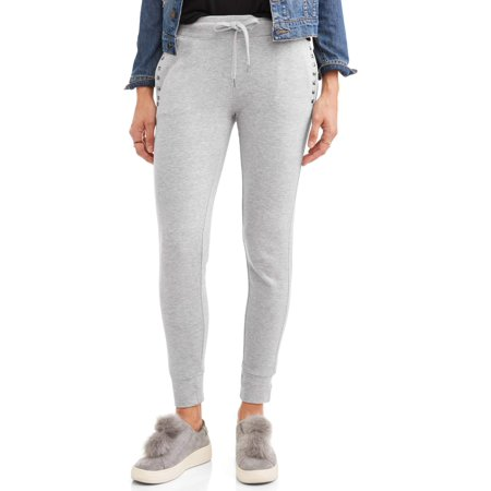 New York Laundry Athleisure Women's Brushed Jogger Pant With Rib Trim (Sizes S-3X Available) (Joggers Pants Size Small)