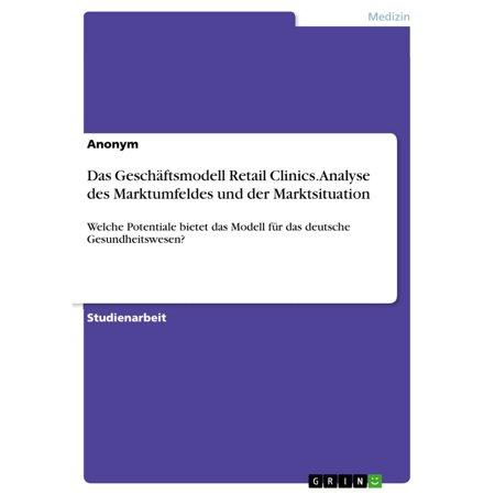 Das Geschäftsmodell Retail Clinics. Analyse des Marktumfeldes und der Marktsituation - eBook
