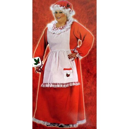 3 Piece Plush Mrs Santa Claus Christmas Costume Womens Adult