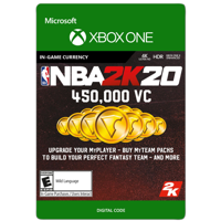NBA 2K20 450,000 VC, 2K Games, Xbox [Digital Download]