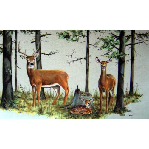 Custom Printed Rugs Deer Family Doormat