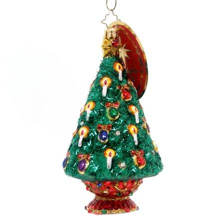 Christopher Radko JEWELED SPRUCE Glass Christmas Tree Candles
