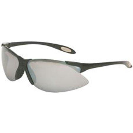 North Eye & Face Protection A900 Series Eyewear, Silver Mirror Lens, Polycarbonate, Hard Coat, Black (Eye Jacket Lenses)