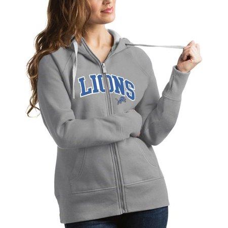 hot sale online a70ba a4e24 Detroit Lions Antigua Women's Victory Full-Zip Hoodie - Silver