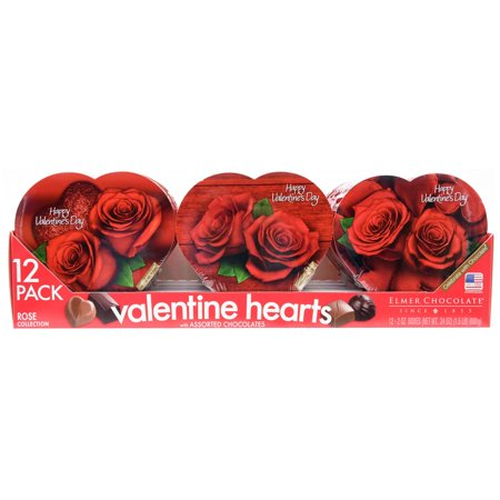Elmer Assorted Chocolates Valentine Hearts In Rose Collection