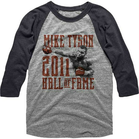 Mike Tyson Mens  Hall Of Fame Baseball Jersey Dark Heather