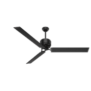 """Hunter 72"""" HFC Matte Black Ceiling Fan with Wall Control"""