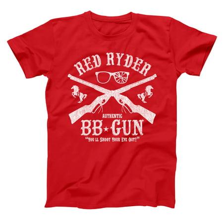 Red Ryder Bb Gun Small Red Basic Men's T-Shirt (Ryder Tee)
