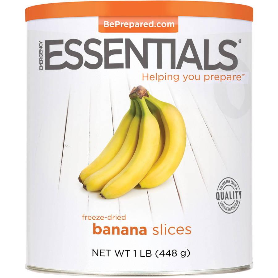 Emergency Essentials Food Freeze-Dried Banana Slices, 16 oz