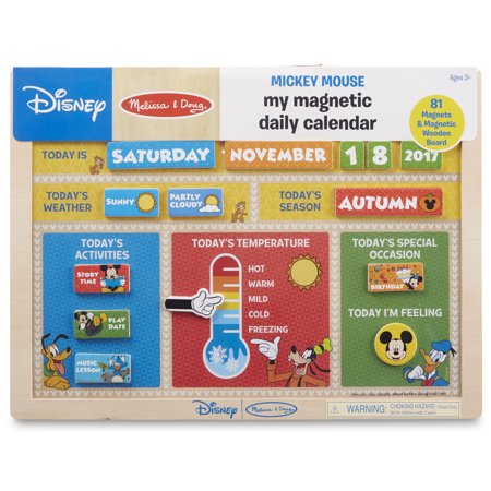 Melissa & Doug Disney Mickey Mouse My Magnetic Daily Calendar (Mickey Mouse Calendar)