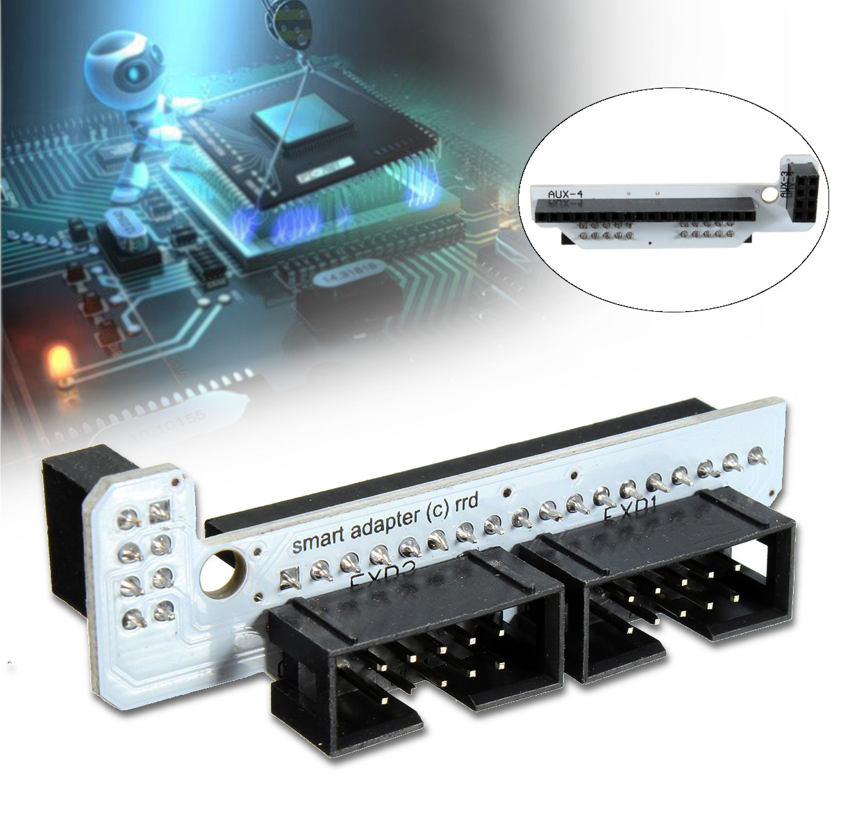 3D Printer Smart Controller Adapter for Ramps 1.4 Shield LCD 3D Printer Accessories 2004 Module &12864