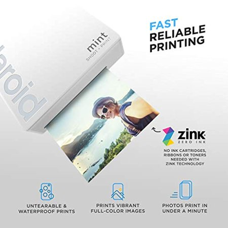 Polaroid Mint Instant Digital Camera (White) All-in-Bundle + Paper (20 Sheets) + Deluxe Pouch + Photo Album + 9 Unique Sticker Sets + Markers + Scissors + Border Stickers and So Much More - image 6 of 7