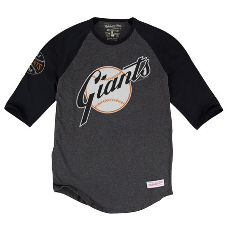 """San Francisco Giants MLB Mitchell & Ness """"Top of the Inning"""" 3 4 Sleeve Shirt by"""
