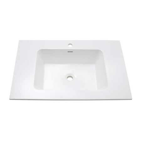 Integrated Bowl - Avanity VersaStone 31 in. Integrated Bowl Bathroom Sink