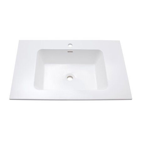 Integrated Bowl - Avanity VersaStone 31 in. Integrated Bowl Bathroom Sink