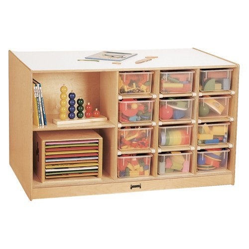Mobile Storage Island With Trays-Option:With Colored Trays