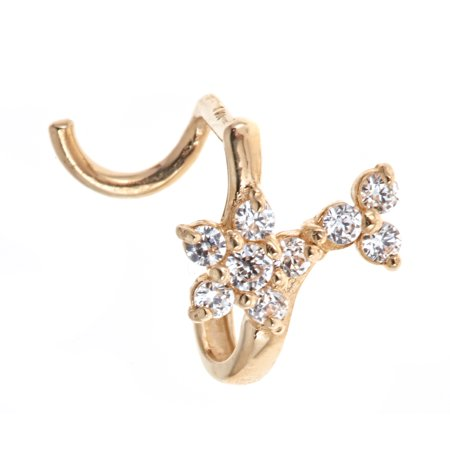 10kt Solid Yellow Gold Nose Ring With U-Post