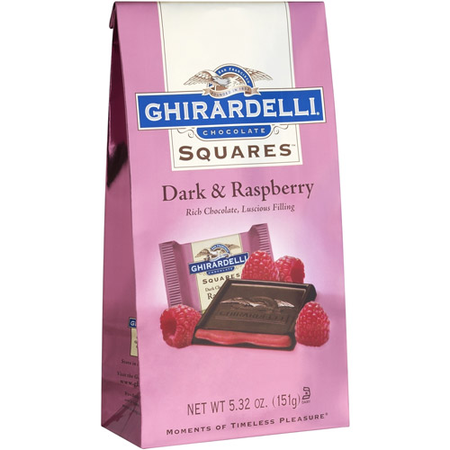 Ghirardelli Chocolate Squares Dark & Raspberry Chocolate, 5.32 oz