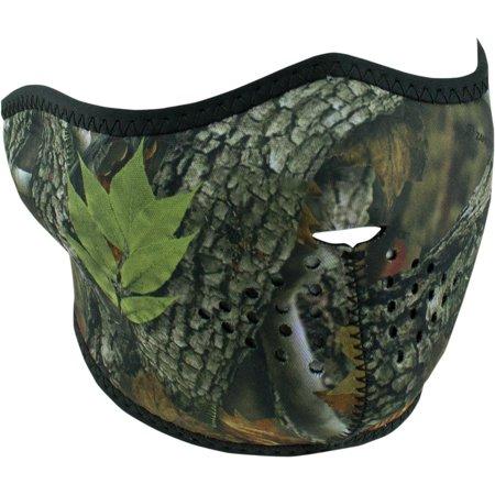 Zan Headgear Half Face Mask Forest Camo (Green, (Forest Green Camo)