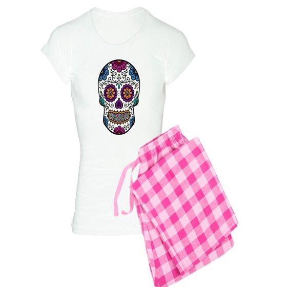 c319b0c6d2 CafePress - CafePress - Sugar Skull - Women s Light Pajamas - Walmart.com