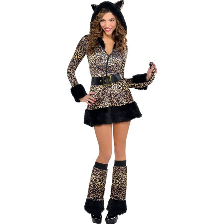Pretty Cat Face For Halloween (AMSCAN Pretty Kitty Costume-Cat for Women, Small, with included)