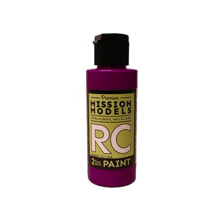 Mission Models Miommrc-049 Rc Paint 2 Oz Bottle Fluorescent Racing Violet Car
