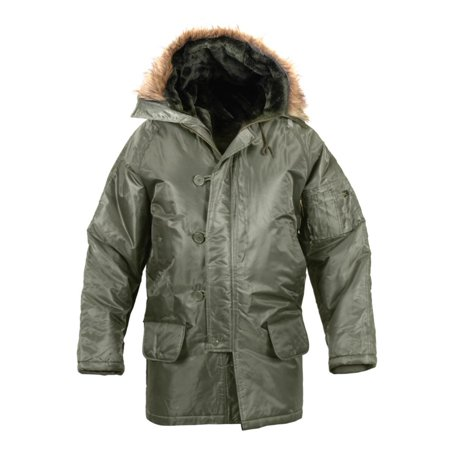 N-3B Snorkel Parka Flight Jacket, Sage, - Snorkel Coat