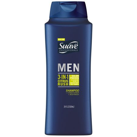 Suave For Men 3 In 1 Shampoo Conditioner And Body Wash Citrus Rush 28 Oz