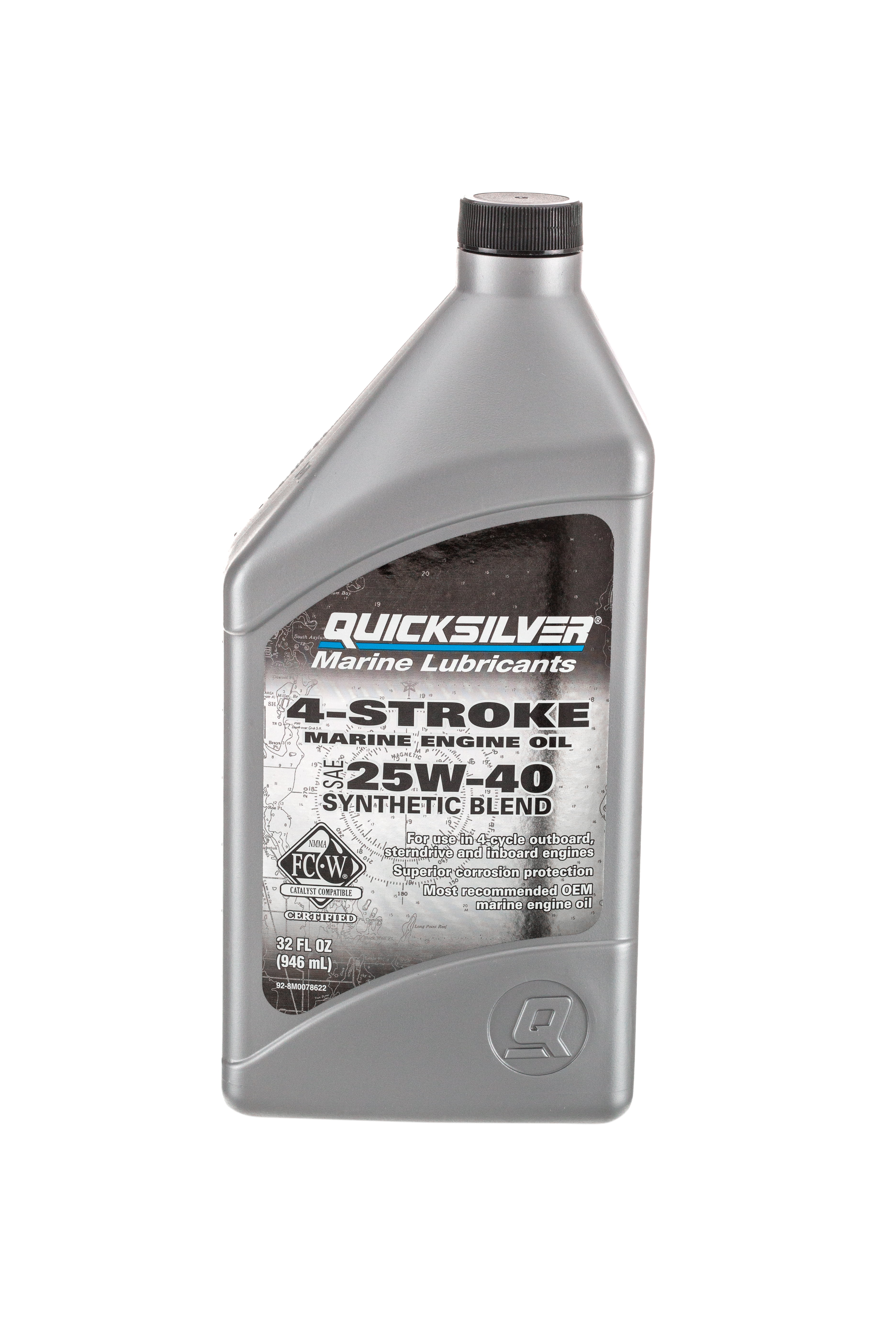 Quicksilver 8M0078622 4-Stroke Marine Engine Oil – For Outboard