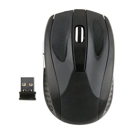 Insten Black 2.4GHz Cordless Wireless Optical Computer - Black Mice