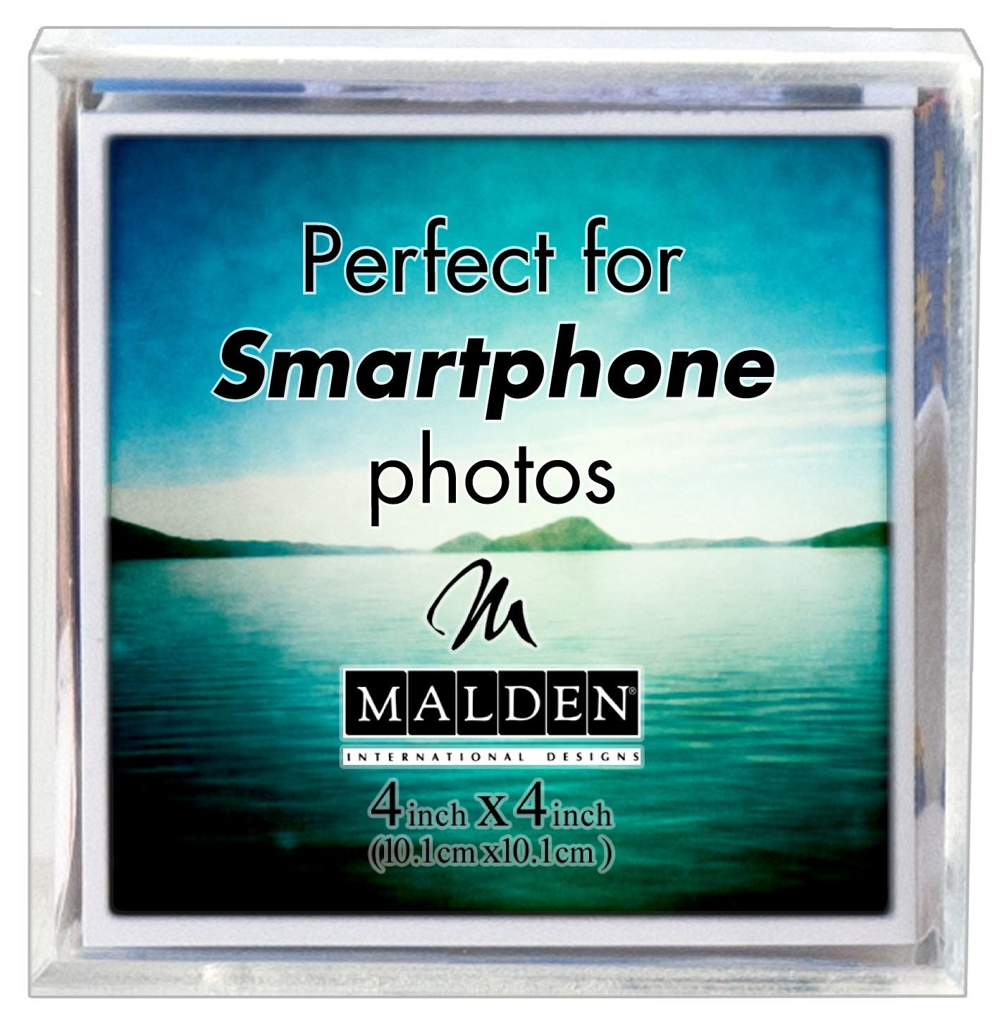 Malden International Designs Acrylic Photo Cube, 6 Option...