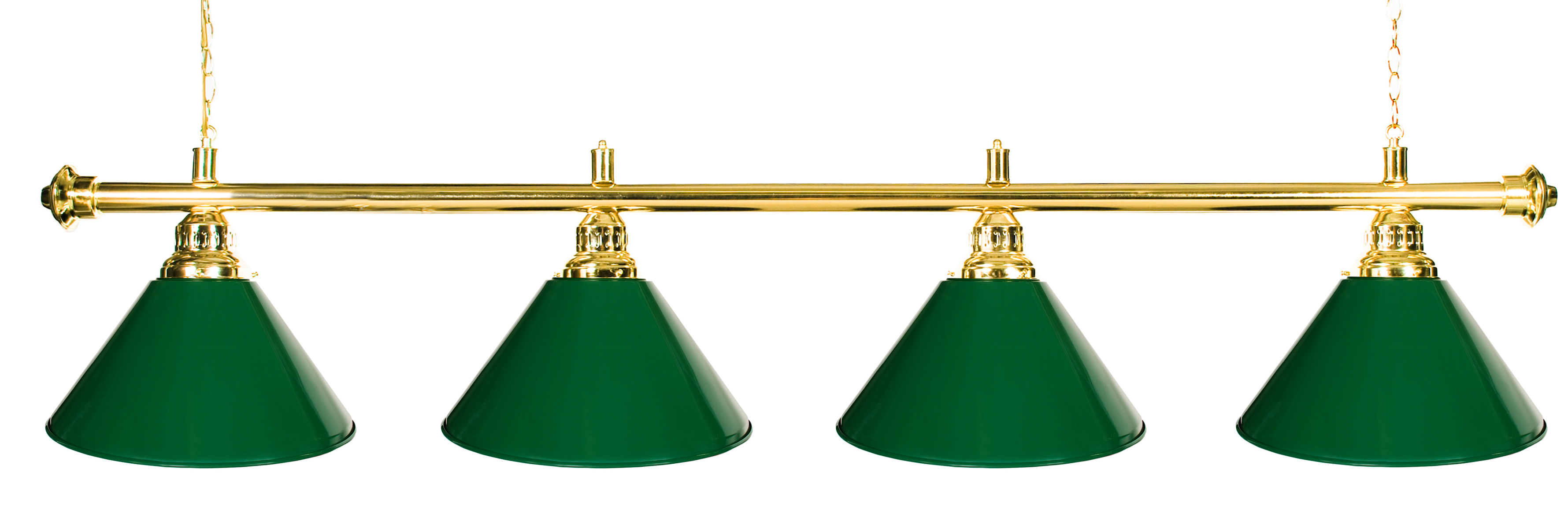 "72"" Pool Table Light Pool Table Light With Metal Green Shades for 9' Table by"