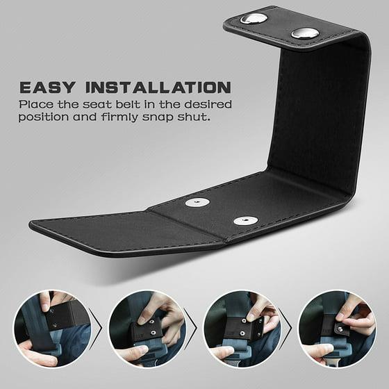 Seat Belt Adjuster, ELV Automotive Belt Strap Safety Shoulder and Neck  Universal Comfort Positioner Locking Clips, Four Vehicle Car Seat Belt  Safety