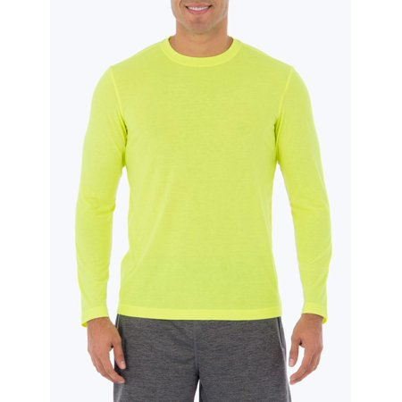 Athletic Works Mens Performance Activewear Long Sleeve Breathable Crew Neck Tee Shirt