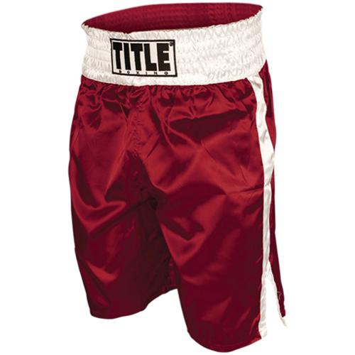 Title Professional Boxing Trunks - Medium - Red/White
