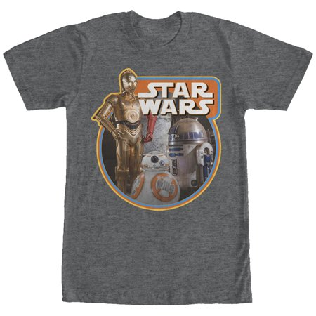 Star Wars Retro Episode Vii Droids Mens Graphic T Shirt