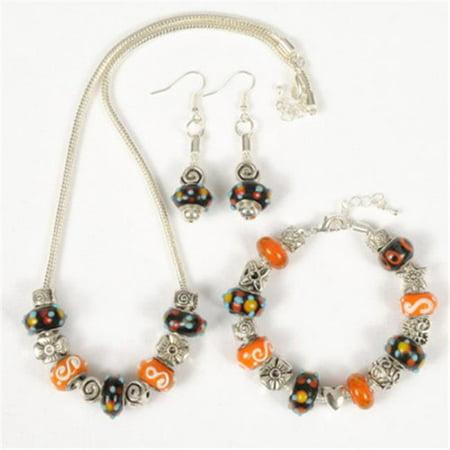 143192PMM232 Happy Halloween Theme Jewelry Set, 3 Piece - Halloween 3 Theme