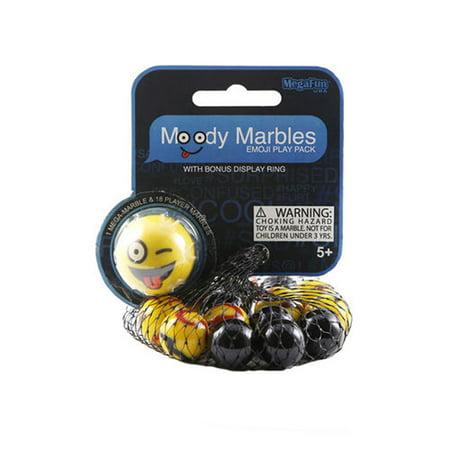 Mega Marbles Moody Marbles Mibsters Emoji Play Pack (CRAZY) for $<!---->