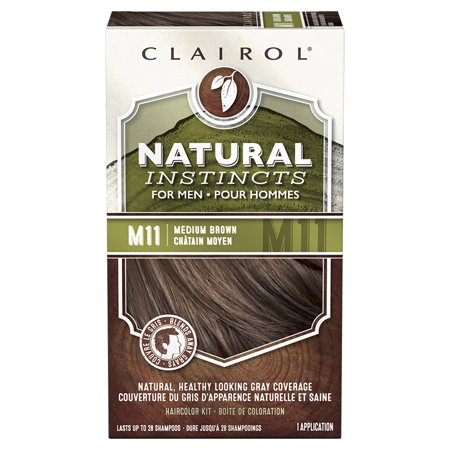 Clairol Natural Hair Color (Clairol Natural Instincts Hair Color for Men, M11 Medium)