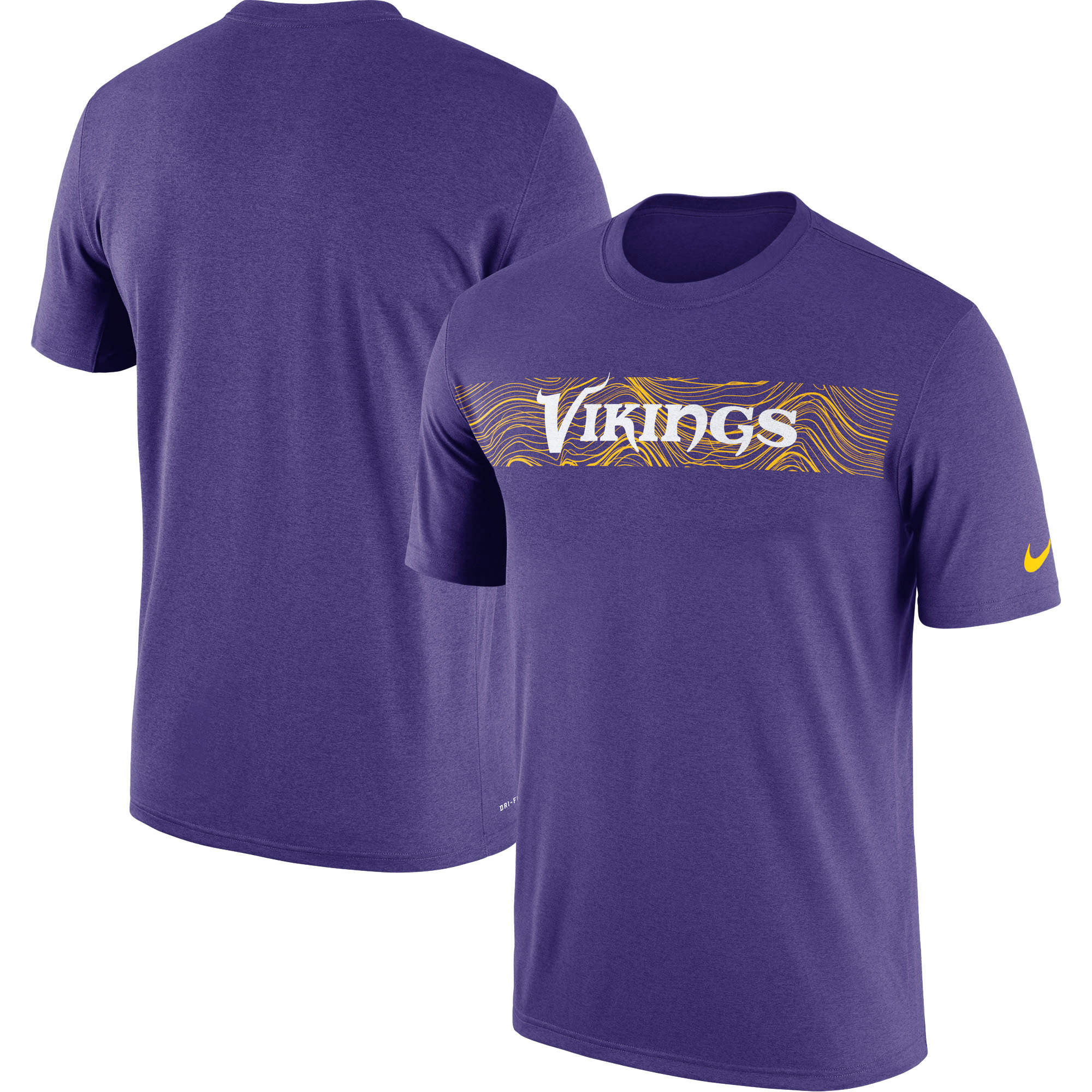 Minnesota Vikings Nike Sideline Seismic Legend Performance T-Shirt - Purple