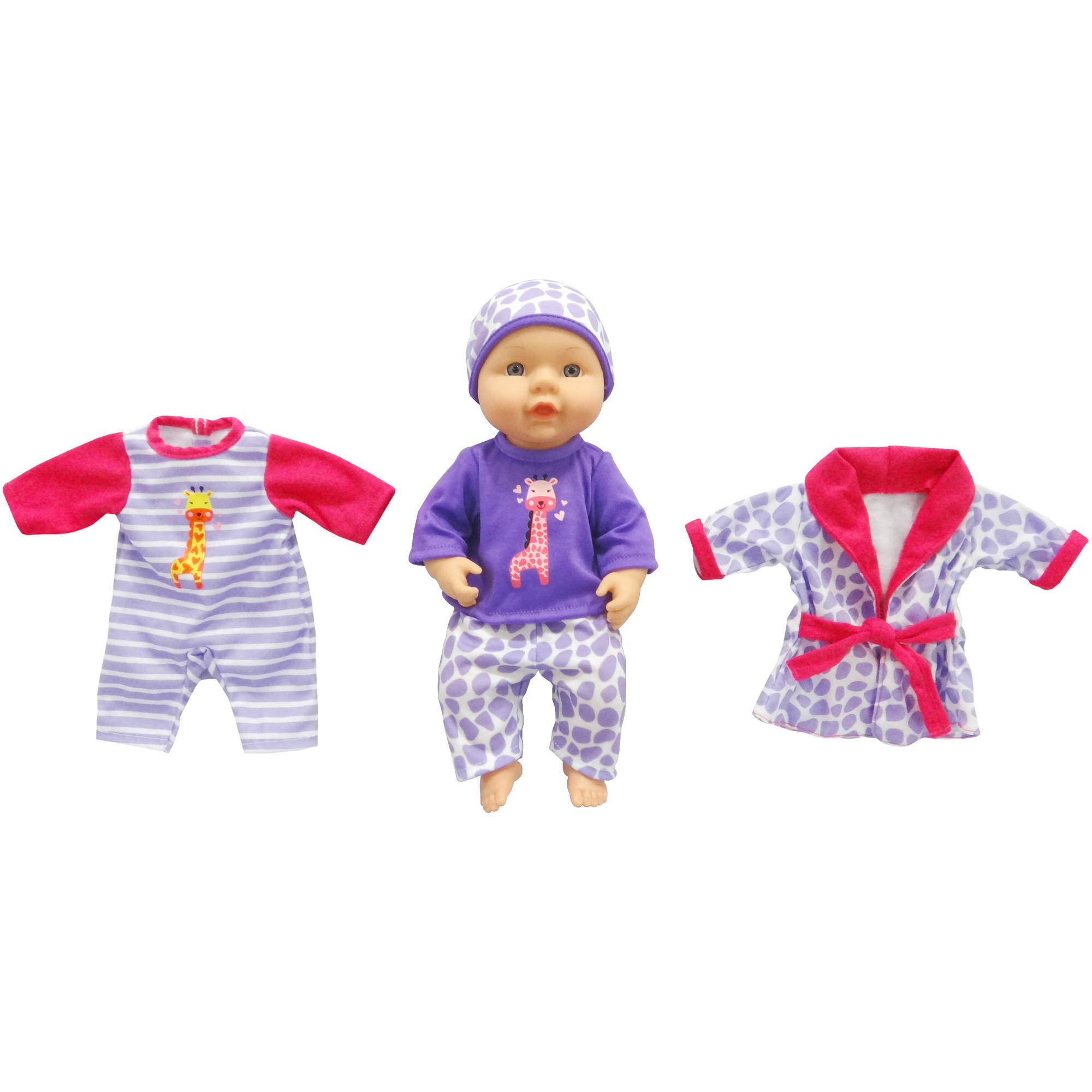 My Sweet Love 12 5 Quot Baby With Outfits Purple Walmart Com