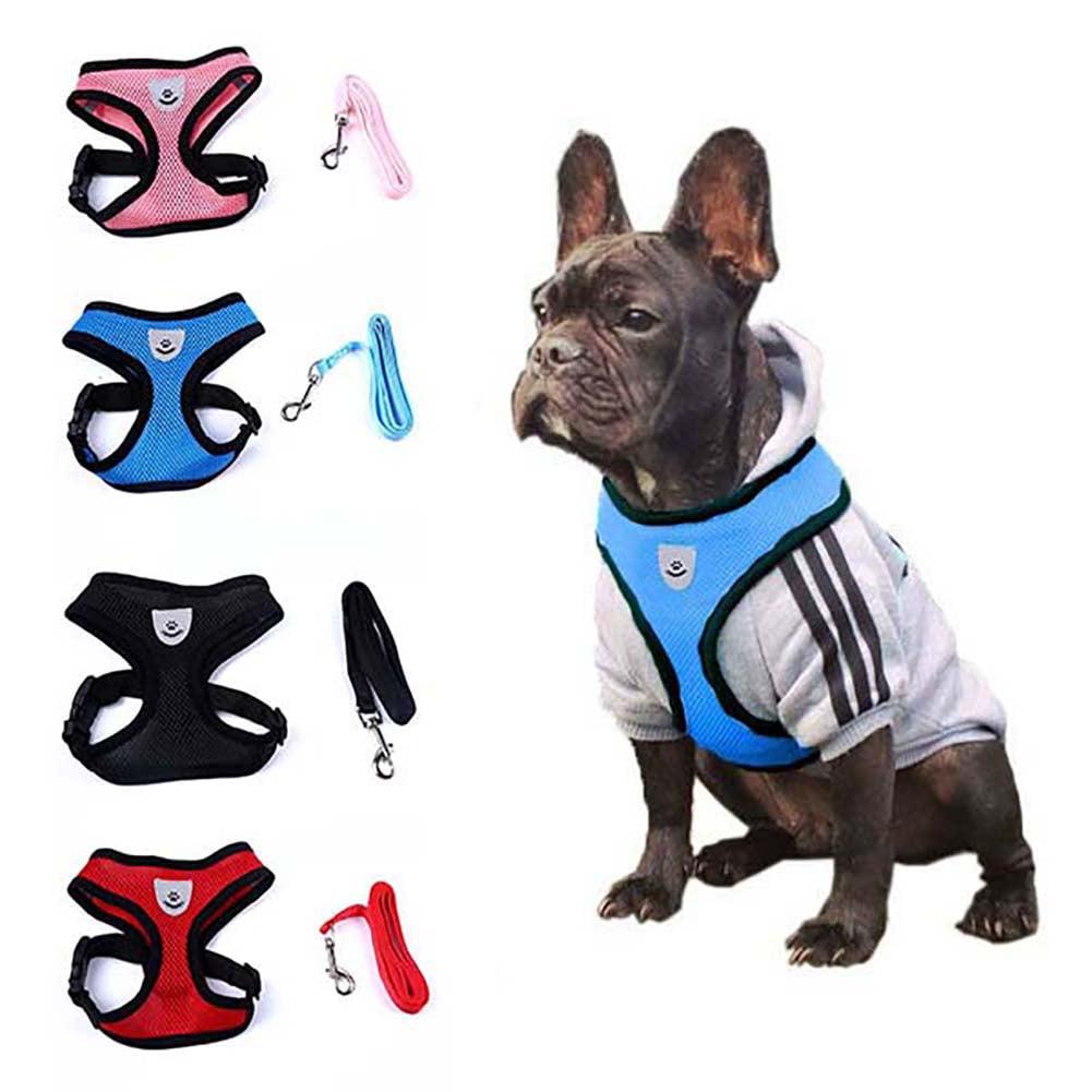 Heepo Cute Small Dog Harness Puppy Fashion Mesh Vest Leash Lead
