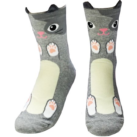 JJMax Women's Cats and Dogs Tickle Tummies Socks - Cat In The Hat Socks