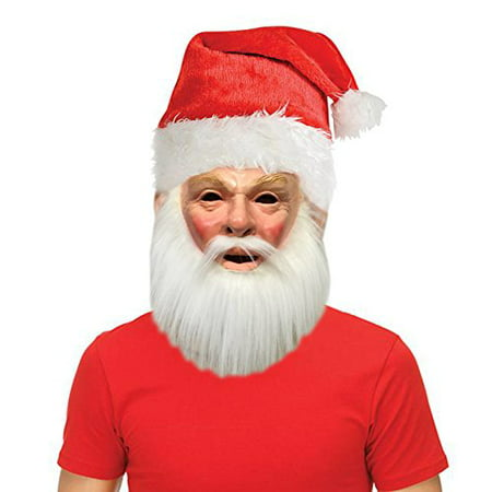 Holiday Christmas Santa Costume Mask with Free Santa Hat Accessory - Sloth The Goonies Mask