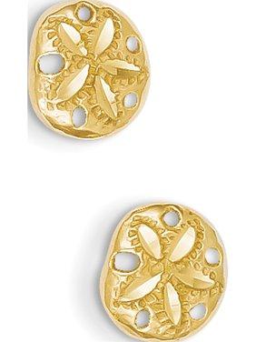 02772995ab4a Product Image 14k Yellow Gold Diamond-cut Sand Dollar (9x8mm) Earrings